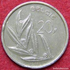 Monedas antiguas de Europa: BELGICA - BELGIE - 20 FRANCS - 1981. Lote 125323051