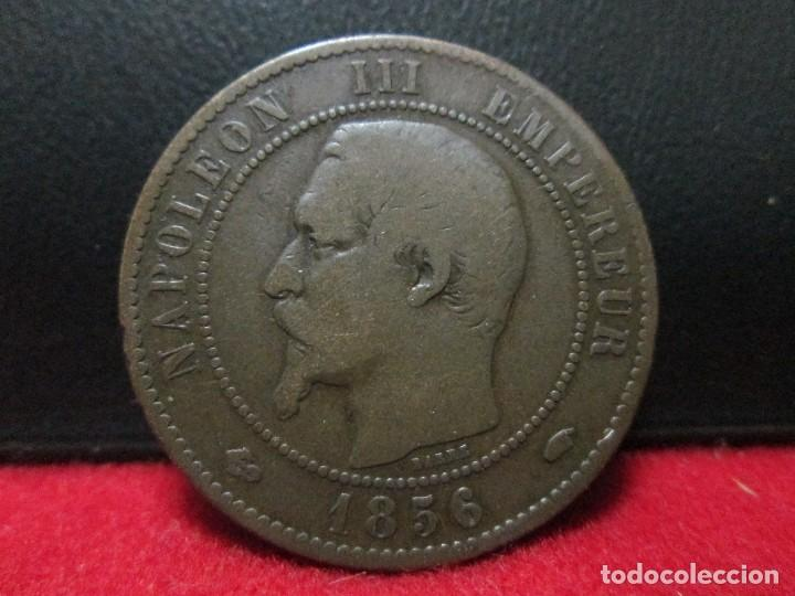10 CENTIMES 1856 NAPOLEON III FRANCIA