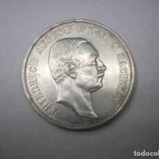 Monedas antiguas de Europa: ALEMANIA, SAJONIA. 3 MARCOS DE PLATA DE 1911 E.REY FEDERICO AUGUSTO III. Lote 126438643