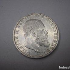 Monedas antiguas de Europa: ALEMANIA, WURTTEMBERG.5 MARCOS DE PLATA DE 1876 F--REY GUILLERMO II--FREUDENSTADT. Lote 126439439
