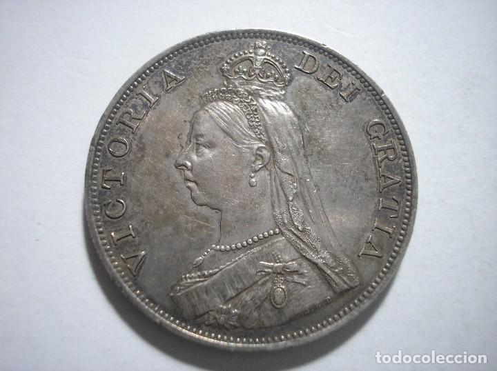 GRAN BRETAÑA VICTORIA DOBLE FLORIN 1887 PLATA (Numismática - Extranjeras - Europa)