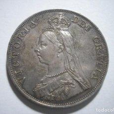 Monedas antiguas de Europa: GRAN BRETAÑA VICTORIA DOBLE FLORIN 1887 PLATA. Lote 126474307