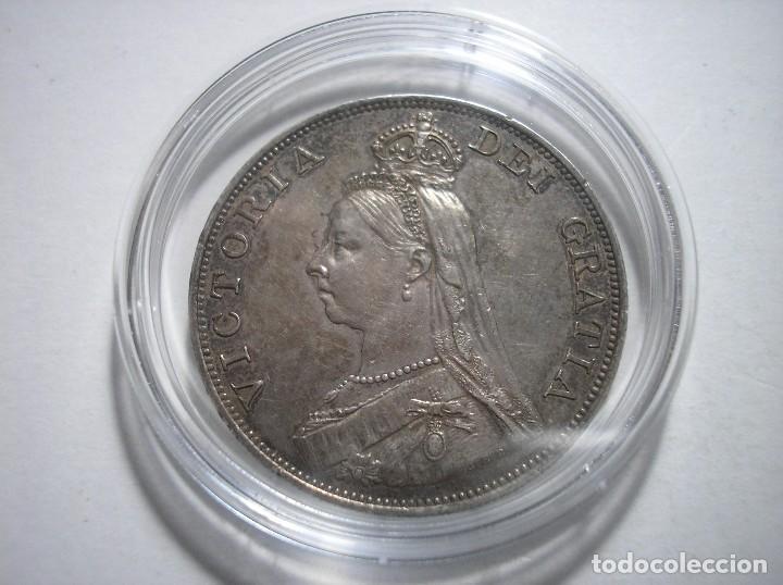 Monedas antiguas de Europa: Gran Bretaña victoria doble Florin 1887 Plata - Foto 4 - 126474307