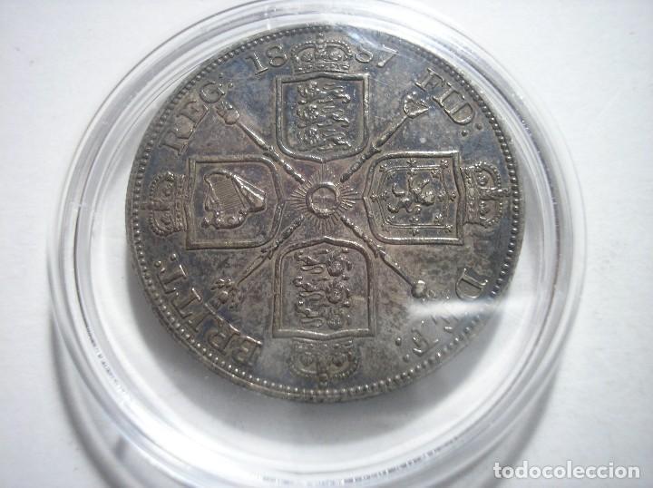 Monedas antiguas de Europa: Gran Bretaña victoria doble Florin 1887 Plata - Foto 5 - 126474307
