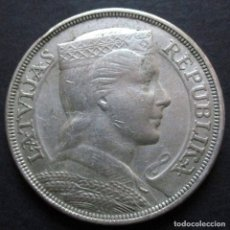 Monedas antiguas de Europa: LETONIA 5 LATI 1932 -PLATA-. Lote 126631519