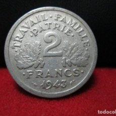 Monedas antiguas de Europa: 2 FRANCS 1943 REPUBLICA FRANCESA. Lote 126883255