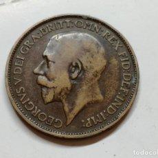 Monedas antiguas de Europa: MONEDAS DEL MUNDO . INGLATERRA . GEORGIUS V. HALF PENNY . 1912. Lote 126978931