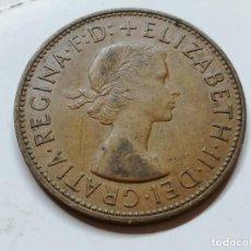 Monedas antiguas de Europa: ONE PENNY 1962 ELIZABETH II GRAN BRETAÑA MONEDA . Lote 126979259
