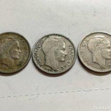 Monedas antiguas de Europa: LOTE 3 MONEDAS FRANCIA - 10 FRANCS 1949 1946 VER FOTOS. Lote 126983895