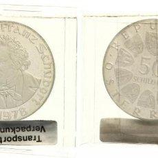 Monedas antiguas de Europa: AUSTRIA 50 SCHILLING (CHELINES) PLATA 1978 FRANZ SCHUBERT (COMPOSITOR) PROOF. Lote 127225427