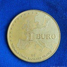 Monedas antiguas de Europa: RARE - MONNAIE DE PARIS - 1 EURO DE THOMAS COOK BANKERS FRANCE | MIL.1998. Lote 127590335