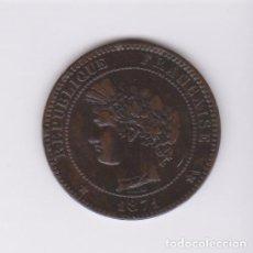 Monedas antiguas de Europa: MONEDAS EXTRANJERAS - FRANCIA - 10 CENTIMES 1871 K (CU) KM-815.2 (MBC/MBC+) RARA. Lote 127820743