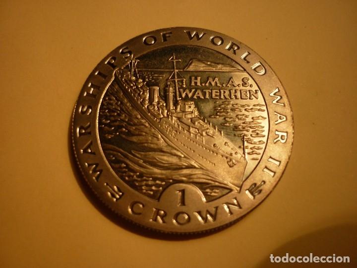 Monedas antiguas de Europa: GIBRALTAR, 1 CROWN 1993 H.M.A.S WATERHEN - Foto 2 - 127976915