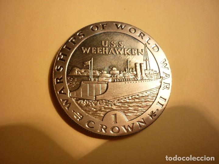 Monedas antiguas de Europa: GIBRALTAR, 1 CROWN 1993 U.S.S WEEHAWKEN - Foto 2 - 127977195