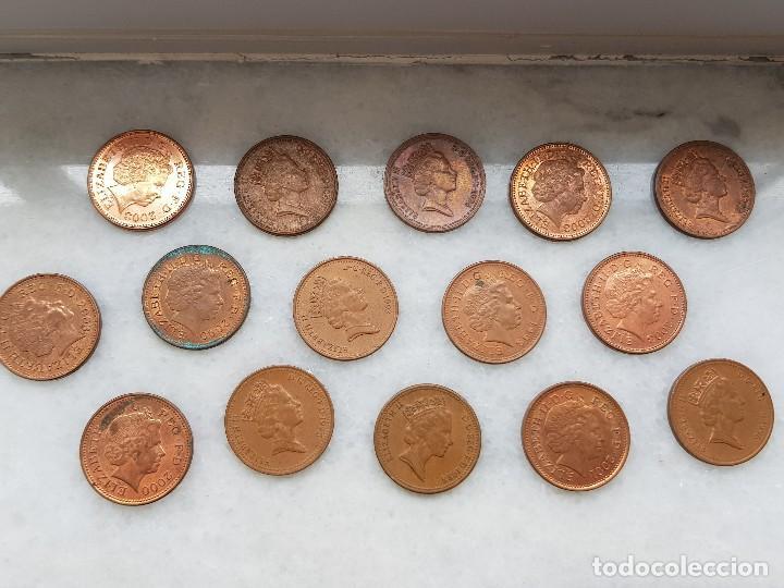 LOTE 15 MONEDAS DE 1 (ONE) PENNY - 1988 - 1992 - 1993 - 1996 - 1997 - 1998  - 2000 - 2001 - 2003