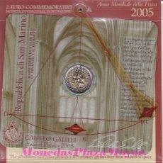 Monedas antiguas de Europa: CARTERA 2 EUROS SAN MARINO 2005 - AÑO DE LA FISICA. Lote 140186464