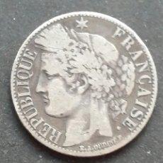 Monedas antiguas de Europa: FRANCIA UN FRANCO DE PLATA DE 1872. Lote 128438591