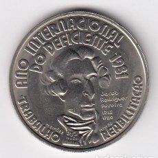 Monedas antiguas de Europa: REPÚBLICA PORTUGUESA 100$00 AÑO INTERNACIONAL DO DEFICIENTE 1981-(16,70 GR-33MM) S/C. Lote 128532555