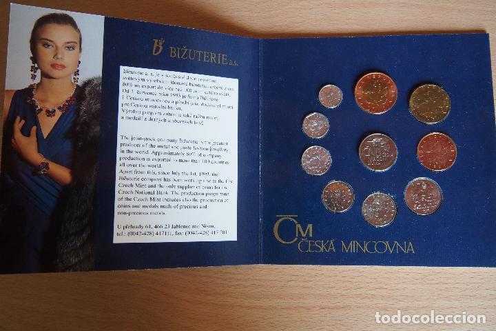 Monedas antiguas de Europa: SET BLISTER MONEDAS REPÚBLICA CHECA. CNB CESKA NÁRODNÍ BANKA. PRAGA. CHECOESLOVAQUIA. 10 MONEDAS - Foto 3 - 128675551