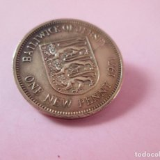 Monedas antiguas de Europa: MONEDA-UK-ONE NEW PENNY-BAILIWICK OF JERSEY-1971-COBRE-VER FOTOS. Lote 129327887