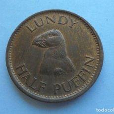 Monedas antiguas de Europa: LUNDY 1/2 PUFFIN 1929. Lote 129436467