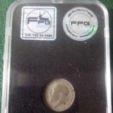 Monedas antiguas de Europa: UNITED KINGDOM 1923 GEORGE V SILVER SIXPENCE, RARE, AU. Lote 129997951