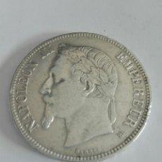 Monedas antiguas de Europa: MONEDA FRANCIA 5 FRANCOS PLATA NAPOLEON III 1869 . EBC. Lote 130343090