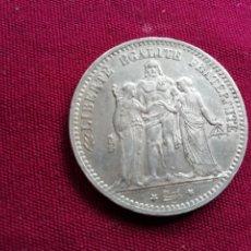 Monedas antiguas de Europa: FRANCIA. MUY RARA ASÍ. 5 FRANCOS DE PLATA DE 1878 K. BRILLO ORIGINAL. Lote 130588258