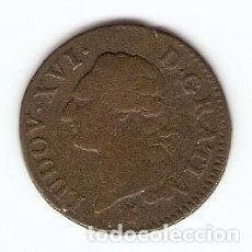 Monedas antiguas de Europa: A41 - FRANCIA SOL LOUIS XVI EMISION 1785 METZ. Lote 130588882