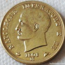Monedas antiguas de Europa: MONEDA MILÁN, ITALIA. EMPERADOR NAPOLEÓN. 40 LIRAS. 1808. RÉPLICA. Lote 130591178