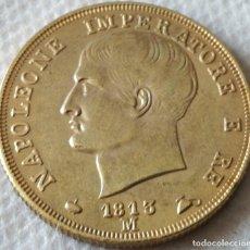 Monedas antiguas de Europa: MONEDA MILÁN, ITALIA. EMPERADOR NAPOLEÓN. 40 LIRAS. 1813. RÉPLICA. Lote 130591438