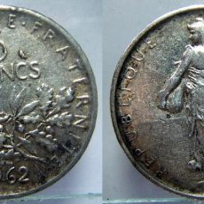 Monedas antiguas de Europa: MONEDA DE FRANCIA 5 FRANCOS 1962 PLATA. Lote 130947260