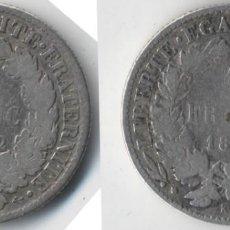Monedas antiguas de Europa: FRANCIA - 1 FRANCO - 1872 - K Y 1 FRANCO - 1872 - A - PLATA. Lote 131286263
