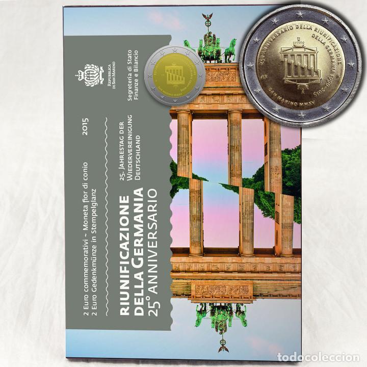 SAN MARINO 2 EURO 2015 - 25 ANIVERSARIO REUNIFICACIÓN DE ALEMANIA (Numismática - Extranjeras - Europa)