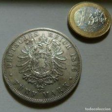 Monedas antiguas de Europa: MONEDA DE PLATA DE 5 MARCOS DE PRUSIA-ESTADOS ALEMANES AÑO 1876 CECA -A- EBC. Lote 132514358