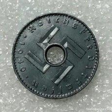 Monedas antiguas de Europa: ALEMANIA 5 REICHSPFENNIG 1940 ESVÁSTICA CON AGUJERO AUNC. Lote 132698054