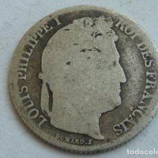 Monedas antiguas de Europa: MONEDA D PLATA DE 1 FRANCO DEL REY LUIS FELIPE DE FRANCIA DE 1847 A, CECA DE PARIS, ESCASA, VER BIEN. Lote 132903462