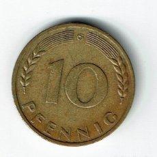 Monedas antiguas de Europa: ALEMANIA 10 PFENNIG 1970 G. Lote 133044102