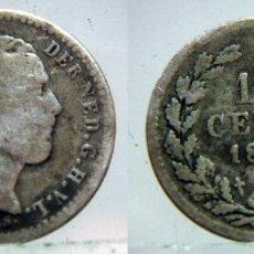 Monedas antiguas de Europa: MONEDA DE HOLANDA 10 CÉNTIMOS DE 1862 GUILLERMO III PLATA. Lote 133395690