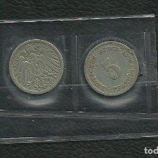Monedas antiguas de Europa: ALEMANIA IMPERIAL 2 MONEDAS DE 5 PFENNIG 1899-AF. Lote 133488454