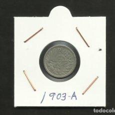 Monedas antiguas de Europa: ALEMANIA IMPERIAL MONEDA DE 5 PFENNIG 1903-A. Lote 133490570