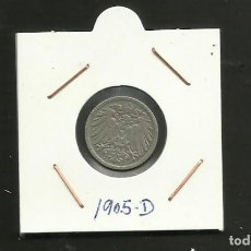 Monedas antiguas de Europa: ALEMANIA IMPERIAL MONEDA DE 5 PFENNIG 1905-D. Lote 133499110