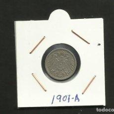 Monedas antiguas de Europa: ALEMANIA IMPERIAL MONEDA DE 5 PFENNIG 1907-A. Lote 133499562