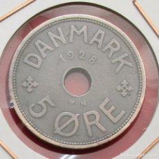 Monedas antiguas de Europa: DINAMARCA. MONEDA DE 5 ORE. 1928.. Lote 133634814