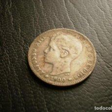 Monedas antiguas de Europa: ESPAÑA 1 PESETA 1900 PLATA. Lote 133772082