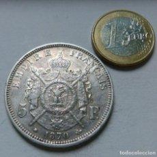 Monedas antiguas de Europa: MONEDA DE PLATA DE 5 FRANCOS DEL EMPERADOR NAPOLEON III AÑO 1870 CECA DE PARIS EBC. Lote 133808138