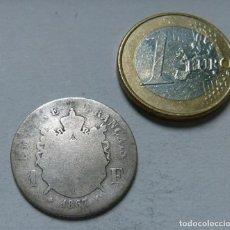 Monedas antiguas de Europa: MONEDA DE PLATA DE 1 FRANCO DEL EMPERADOR NAPOLEON III AÑO 1867 CECA DE PARIS. Lote 133809014