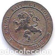 Monedas antiguas de Europa: BELGICA,5 CENTIMES 1862.. Lote 133855814