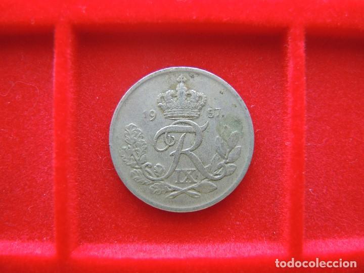 Monedas antiguas de Europa: 25 ØRE, DINAMARCA, FEDERICO IX, 1957 - Foto 2 - 134031954