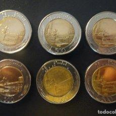 Monedas antiguas de Europa: ITALIA - 500 LIRAS DECADA AÑOS 80, LOTE 6 MONEDAS MBC. Lote 134075270